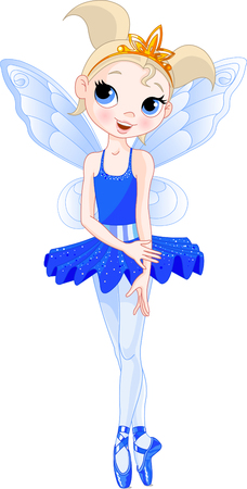 dark elf: indigo Cute fairy ballerina. Wings and glitter are separate groups.