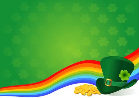 st patricks day: St. Patricks Day background theme with copyspace Illustration