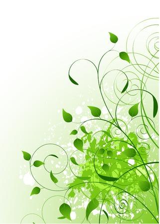 美しい緑のばねの背景。コピー ext のための場所