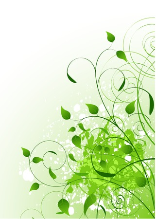 Beautiful Green Spring background. Place for copytext