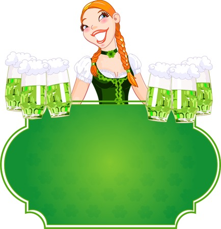 irish woman: Invitation car d to the St. Patrick�s Day