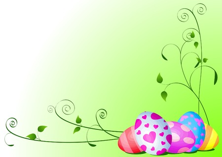 Fine painted eggs background designed for Easter