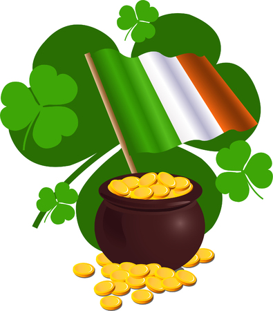 Fun Irish and pot theme vector illustration for your design needs. Vector