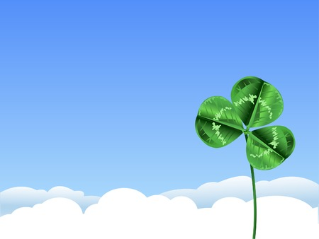 patrick's: Green clover background for St. Patrick�s Day Illustration