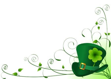 Vector St. Patrick�s dag bloemen achtergrond met plaats voor uw tekst of kopiëren Stock Illustratie