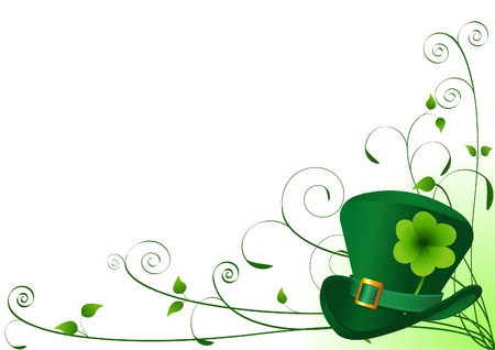 st: Vector St. Patrick's Day Floral Background with place for your copytext