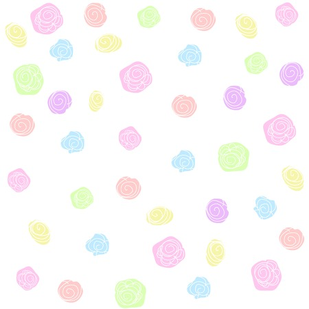 Vector flower pattern background. Pastel colors Çizim