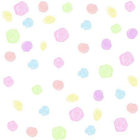 Vector flower pattern background. Pastel colors Illustration