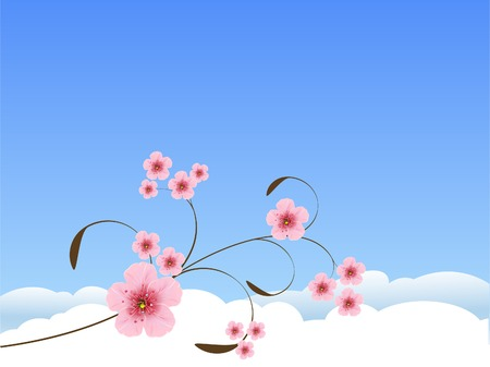 Beautiful floral pattern spring background Vector