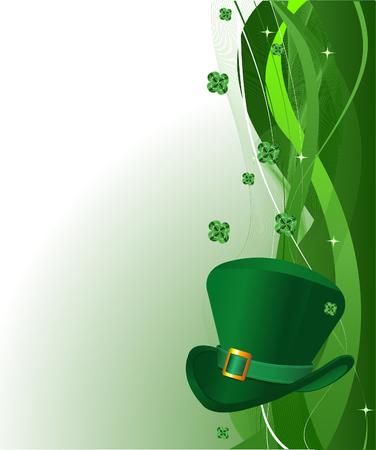 St. Patrick's Day background with copy space. Ilustração