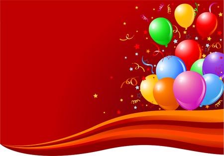 Botte de ballons colorés sur la vague. Banque d'images - 6568341