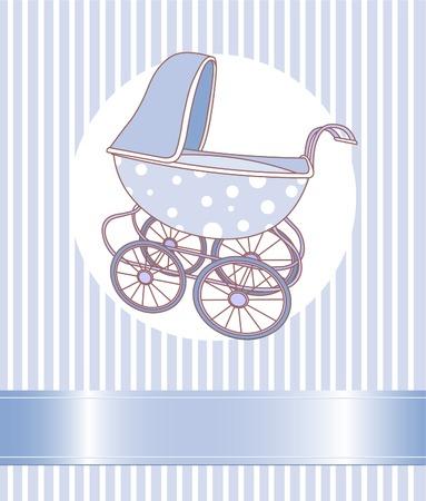 Baby jongen vervoer aankondiging kaart