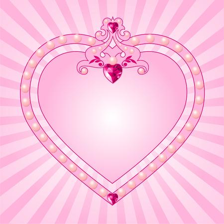 Marco de Rosa Princesa encantadora. Perfecto para las niñas hermosas Foto de archivo - 6568347