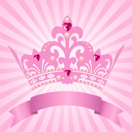 royals: Beautiful background with crown for true princess Illustration