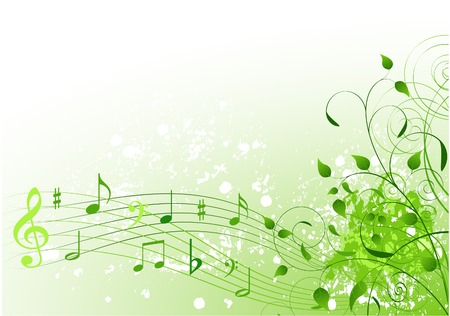 spring: Abstract spring song background