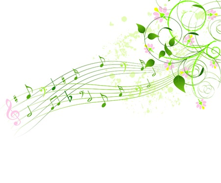 popular music concert: Astratto primavera canzone sfondo Vettoriali
