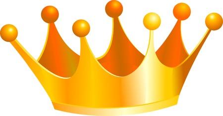 trono real: Una ilustraci�n de una corona de oro de los reyes