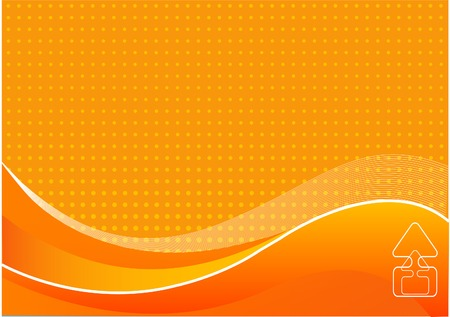 Abstract orange background with place for a text Vector