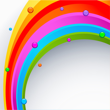 Abstract rainbow colored background with rounds