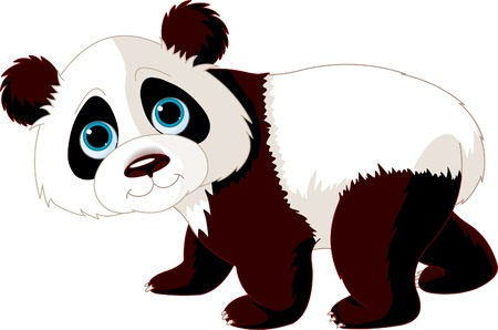 Very cute walking panda Stock Vector - 6658842