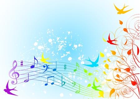 Fondo de canción de primavera abstracta  Foto de archivo - 6658878