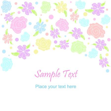 Vector flower pattern background. Pastel colors Vectores