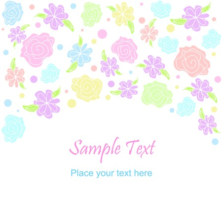 Vector flower pattern background. Pastel colors Illustration