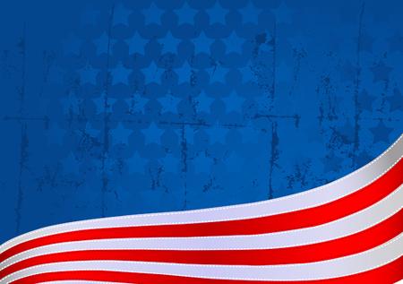 voting: Eine amerikanische Flagge Star und Streifen im Hintergrund