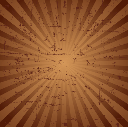 Grunge Radial Broun Background  Vector
