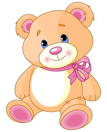 A rough, painterly child's Teddy bear