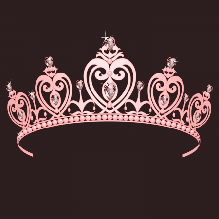 Hermosa corona de Princesa cierto brillante Foto de archivo - 6731364