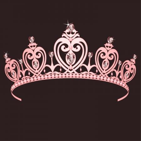 Schöne leuchtende true Princess crown Vektorgrafik