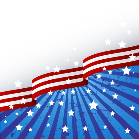 ribbons: USA flag theme background with place for your copytext