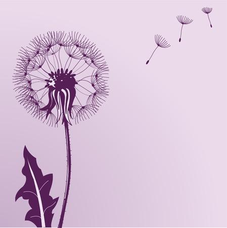 Illustratie van klap paarde bloemen op kleur achtergrond Stock Illustratie