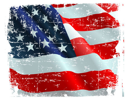 This illustration of USA flag can be used for your design. Stock Vector - 6779905