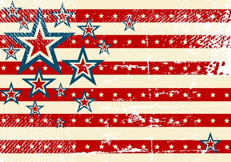 USA flag theme background and texture Vector