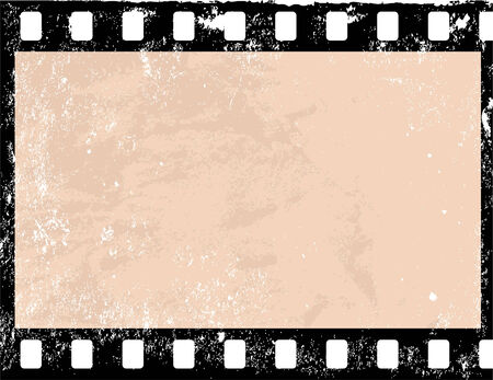 Illustration of a grunge filmstrip frame