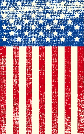 An American grunge flag for a background of a poster. Stock Vector - 6870399