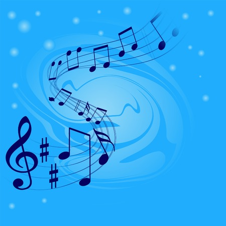 conservatory: Abstract musical background with place for text Illustration