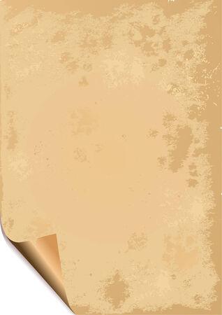 cartone strappato: Vecchia carta grunge background con ruches angolo