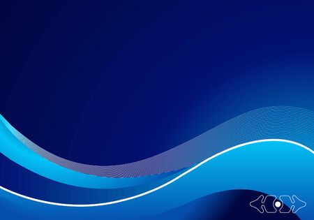 Abstract hi tech blue background with waves and  lines Фото со стока - 6951013