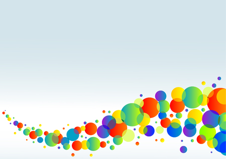 horizontal: Abstract colorful horizontal background