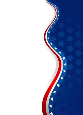 Een Amerikaanse vlagster en een streepachtergrond Vector Illustratie