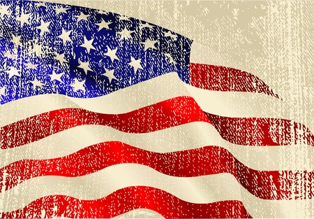 USA flag theme background and texture Stock Vector - 7021536