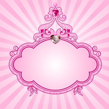 Lovely princess pink frame. Perfect for beautiful girls Stock Vector - 7021542