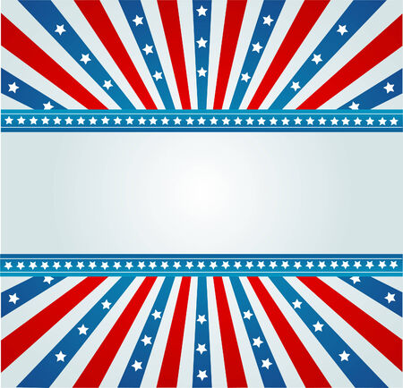 A patriotic background for Fourth of July Vector