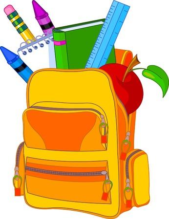 バックパック: 学校のイメージ コンセプトに戻るすべてのオブジェクトがグループ化され、簡単に編集用層します。