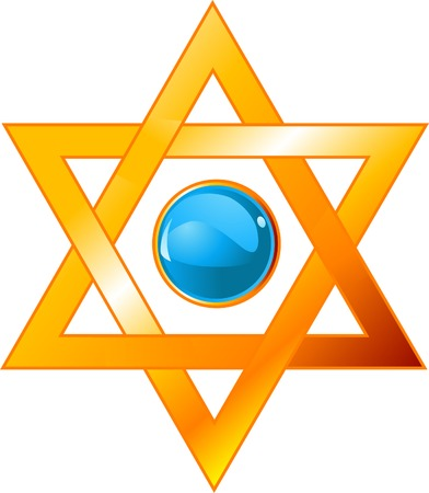 Illustration of star of David (Magen David)  Vector