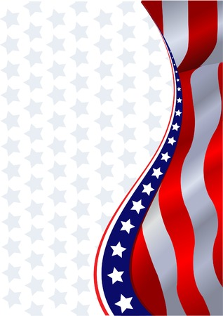 An American flag vertical background Vector