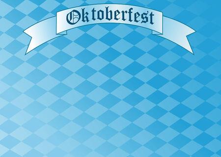blau weiss:  Oktoberfest Celebration Background with Copy space.